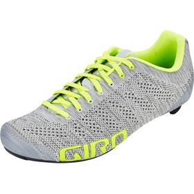 Giro Empire E70 Knit Scarpe Uomo, grey heather/highlight yellow